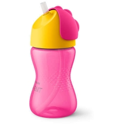 PHILIPS AVENT KUBEK NIEKAPEK ZE SŁOMKĄ 300ML GIRL